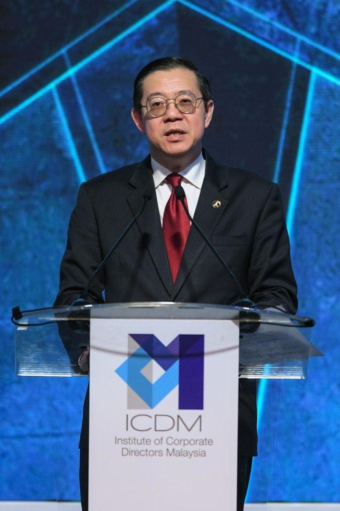 Photo 1 YB Tuan Lim Guan Eng Minister of Finance ICDM IDS 2019 15 Oct 2019
