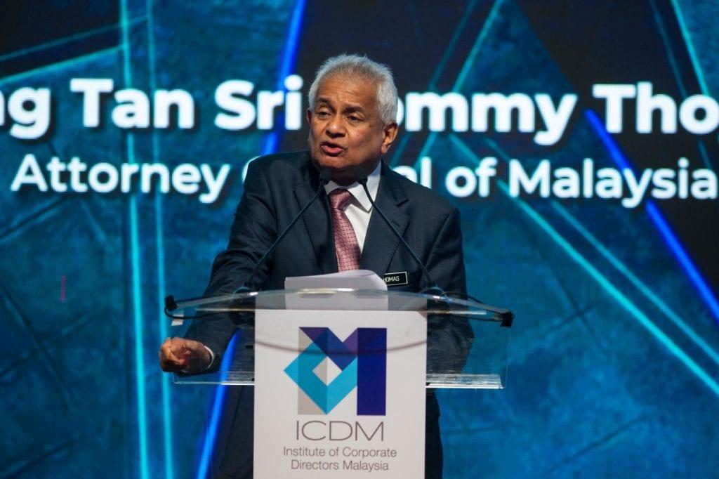 Photo 2 YBhg Tan Sri Tommy Thomas Attorney General Malaysia ICDM IDS2019 15 Oct 20191