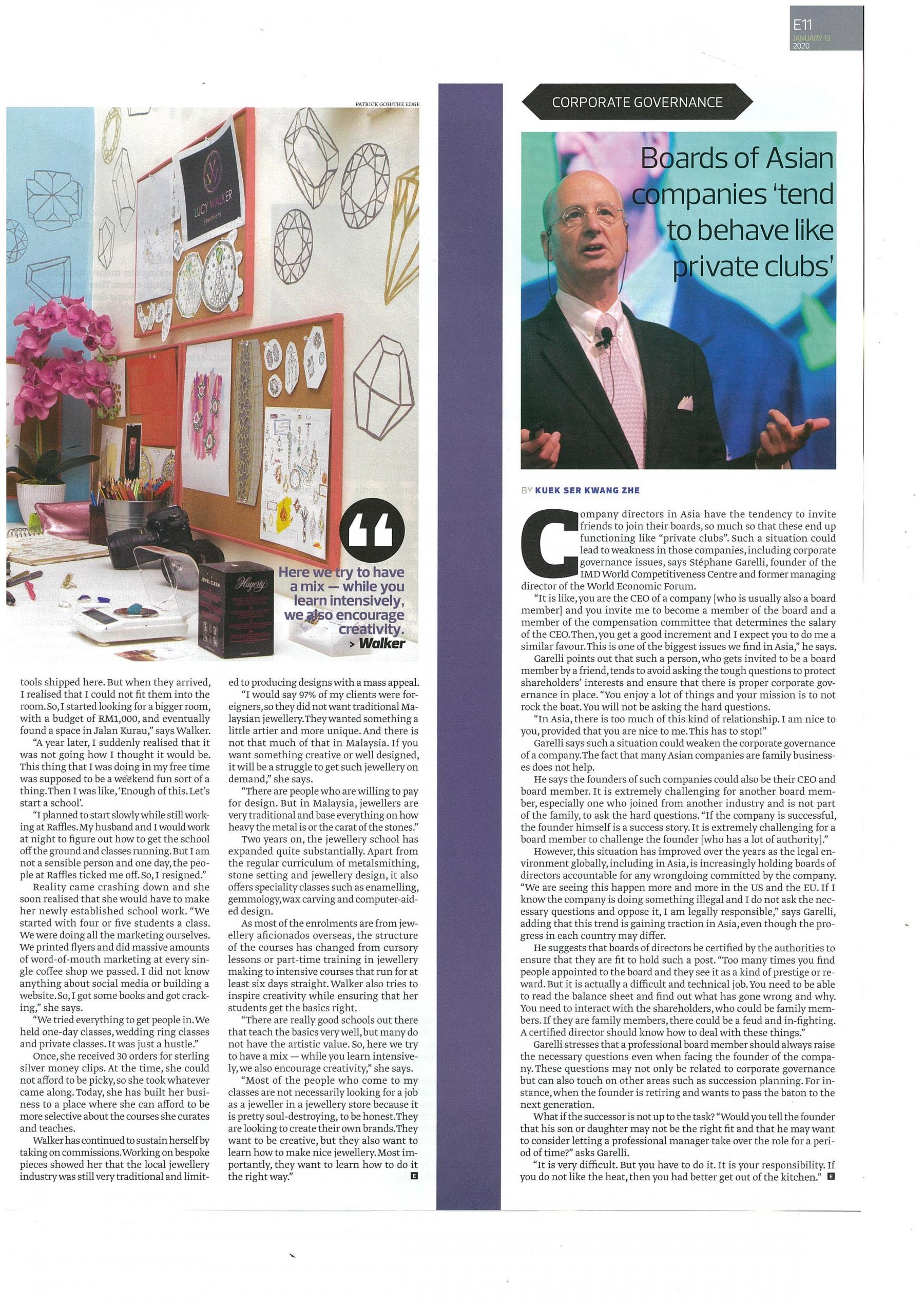 IDS2019 The Edge interview with Stephane Garelli The Edge Weekly 13 Jan 20201